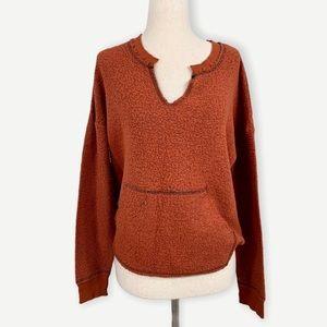 PROJECT SOCIAL Sz XS Burnt Orange Sweatshirt Top